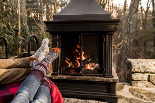 Crooked Oak Mountain Inn Fireplace