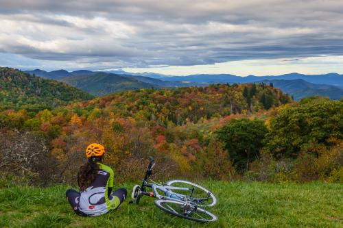 2015 Fall Color: Biker With View