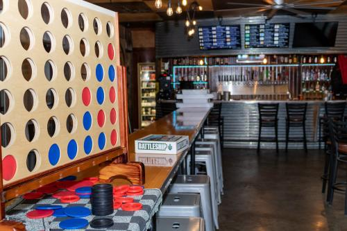Giant Connect Four Game at Floyd County Brewing