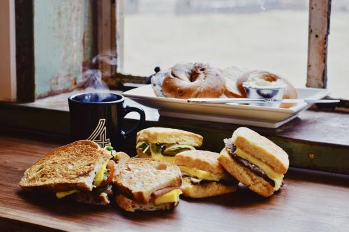 Breakfast sandwiches at Warehouse 4 in Dayton, OH