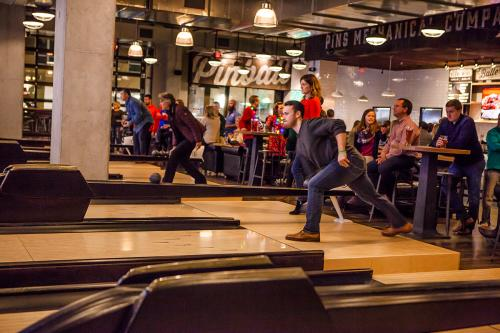 Duck pin bowling at Pins Mechanical Company
