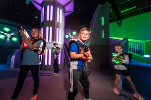 Kids Playing at Laser Tag of Metairie.