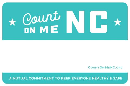 Count on Me NC Name Badge Blank