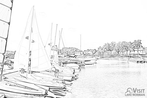 Peninsula Yacht Club Coloring Page