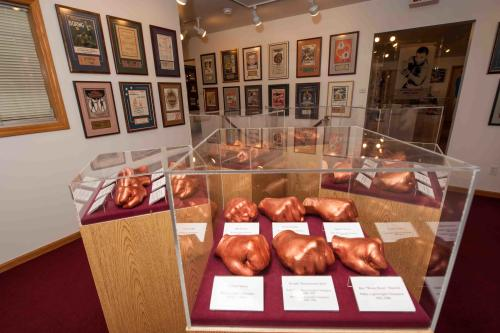 Bronzed fists on display at the International Boxing Hall of Fame