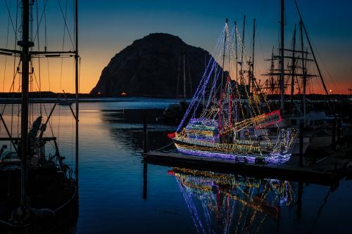 Lighted Boat