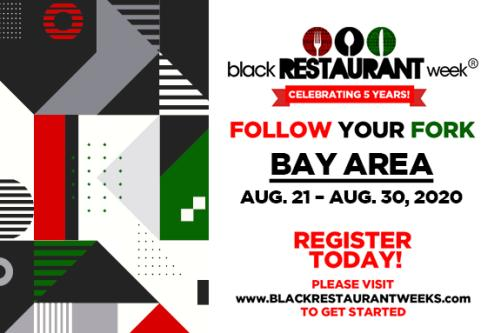 Black Restaurant Week Bay Area Banner for Registration and Dates