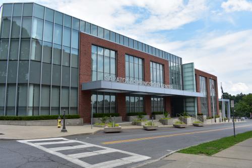 Exterior shot of Saratoga Springs City Center