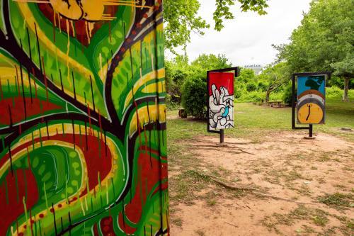 Art installation at Oyster Creek Park.