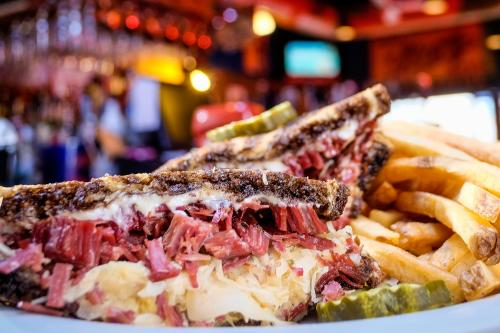 Reuben Sandwich with Fries