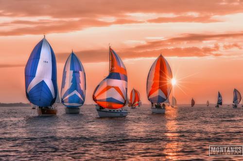 Sailboats on Lake Ontario in Rochester, NY