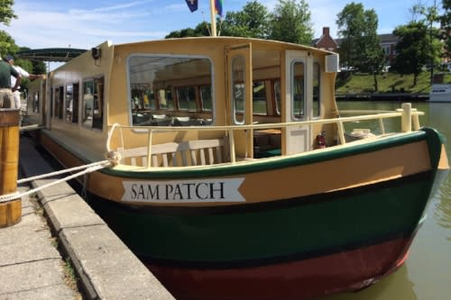 Sam Patch Tour Boat docked in Pittsford, NY