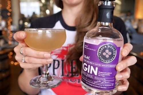 Black Button Lilac Gin Rochester NY