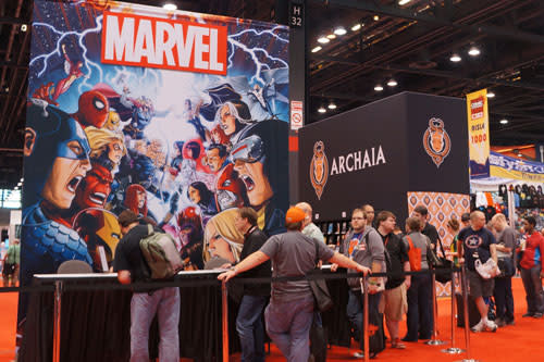 Display at the Chicago Comic and Entertainment Expo