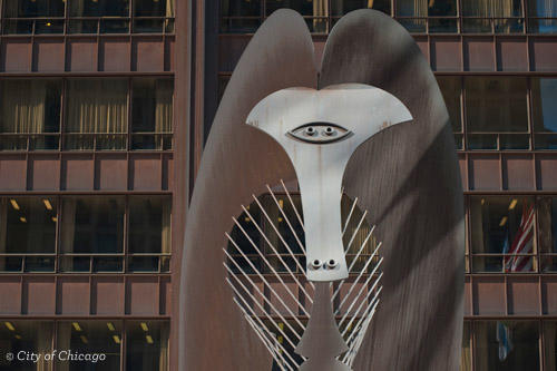 Picasso Sculpture in Daley Plaza - Chicago Public Art