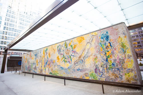 The Four Seasons by Marc Chagall - Chicago Public Art