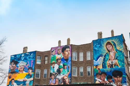 Jeff Zimmerman's Mural in Pilsen, Chicago