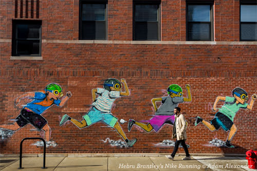 Hebru Brantley's Nike Running Mural