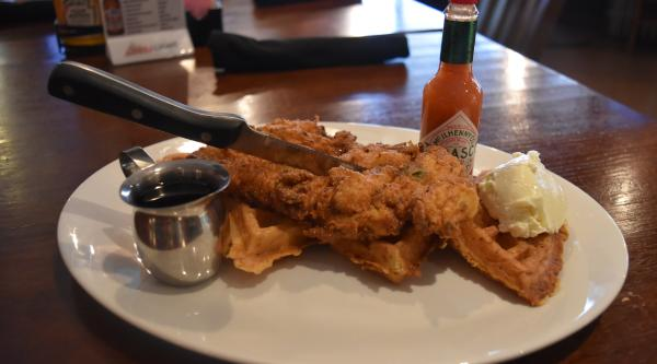 Chicken and Waffles at Champions Bar and Restaurant - Fort Wayne, IN
