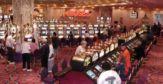 Interior of an Atlantic City casino