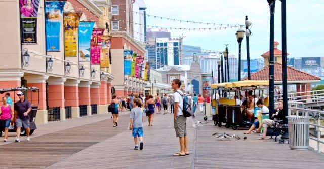 Walking the boardwalk in Atlantic City