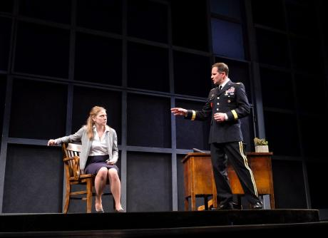 actors on stage at Geva Theatre in Rochester, NY