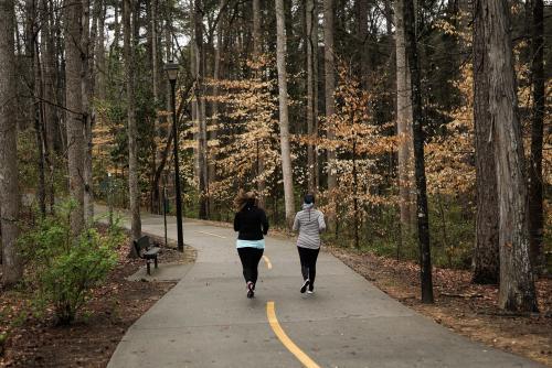 Running on Brook Run Trails