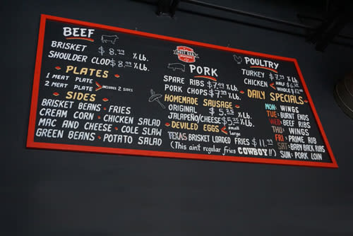 Post Oak BBQ Menu