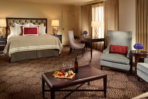 King Suite room at the Omni Las Colinas Hotel