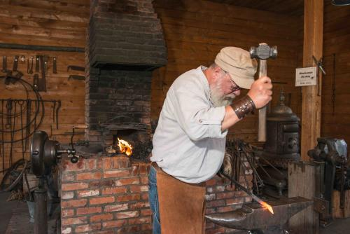 Blacksmith at the Chittenango Landing Canal Boat Museum