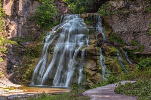 Lower falls at Delphi Falls County Park