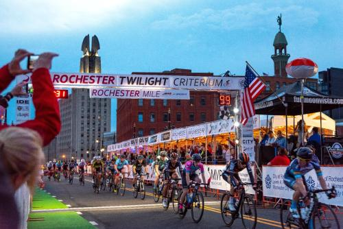 The Finish Line at the Rochester Twilight Criterium