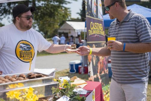 Serving Burgers at Wilmington's Burger Battle