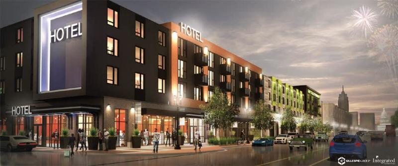 Courtyard by Marriott downtown rendering