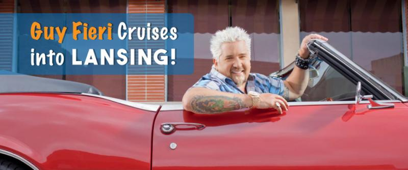 Guy Fieri cruises into Lansing