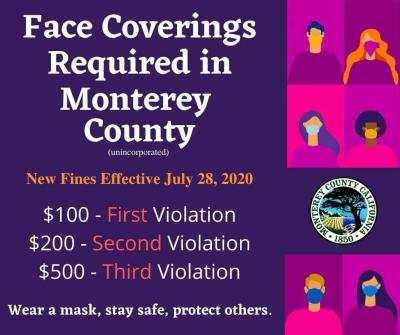 Monterey County Face Coverings Fines