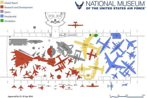 NMUSAF 4th Hangar Map