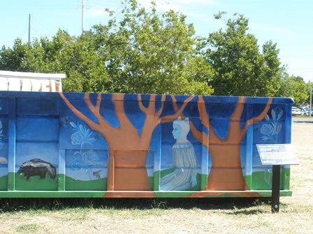 Check it out – painted trunks and living foliage!  (Waldeinsamkeit)