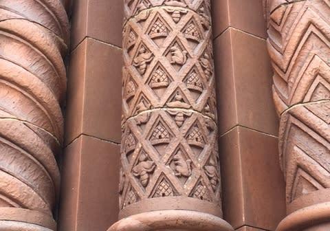 Boji Tower columns