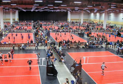 Volleyball tournament at the Iowa Events Center