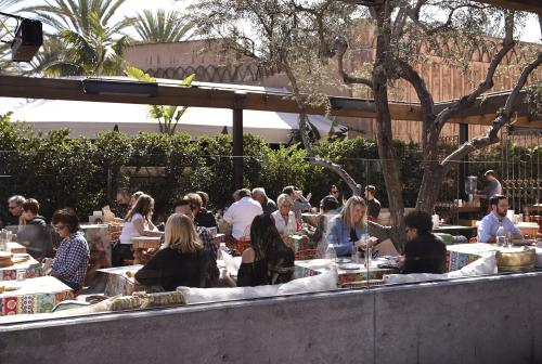 Enjoy the food and wine at Cucina Enoteca in Irvine which features a delightful outdoor seating area.