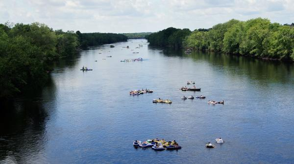 People Floating Down Chippewa River