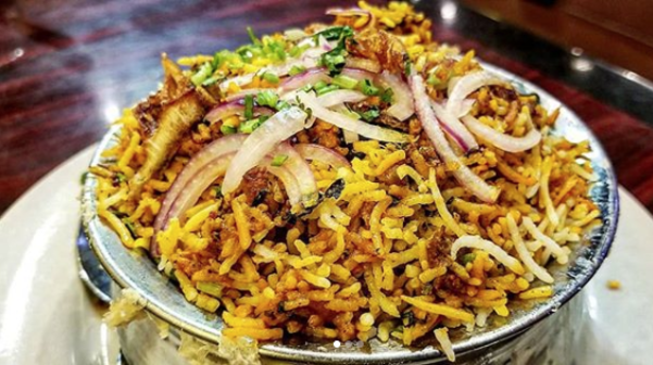Chicken biryani at Bombay to Beijing