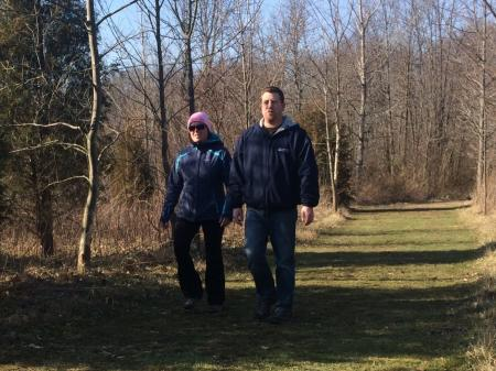 Sodalis Nature Park in Plainfield provides one of many winter hiking options in Hendricks County.