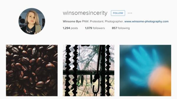 Winsome Bye Instagram account