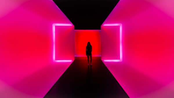 James Turrell light tunnel at MFAH