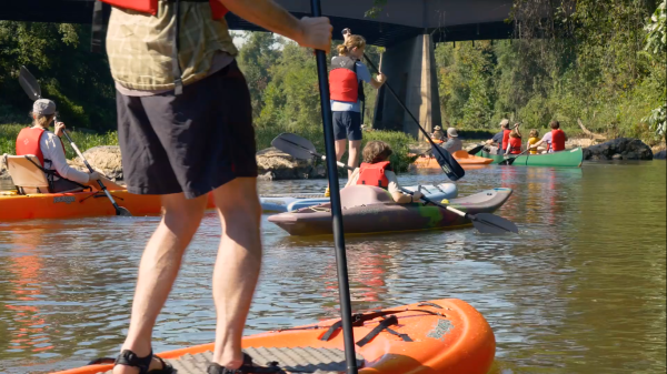 Paddleboarding on Rivanna River