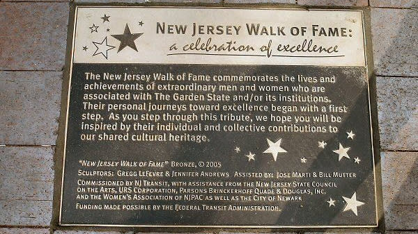 New Jersey Walk of Fame bronze