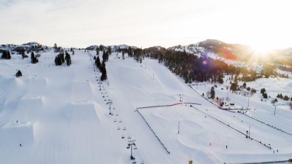 scenic photo of winter terrain park
