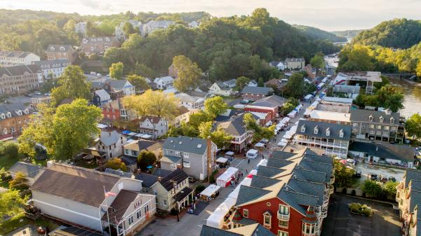 Birds eye view: the Town of Occoquan